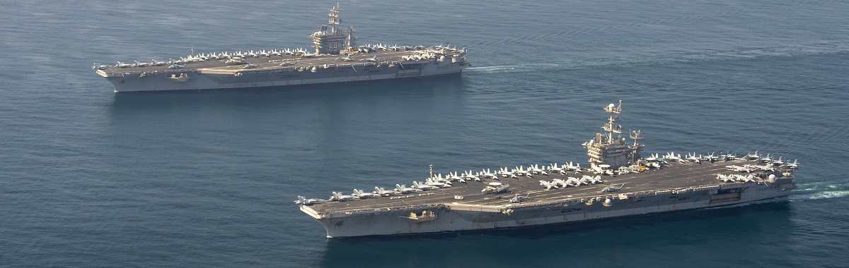 Ike, Truman Conduct Dual Carrier and Joint Air Wing Operations in the Arabian Sea